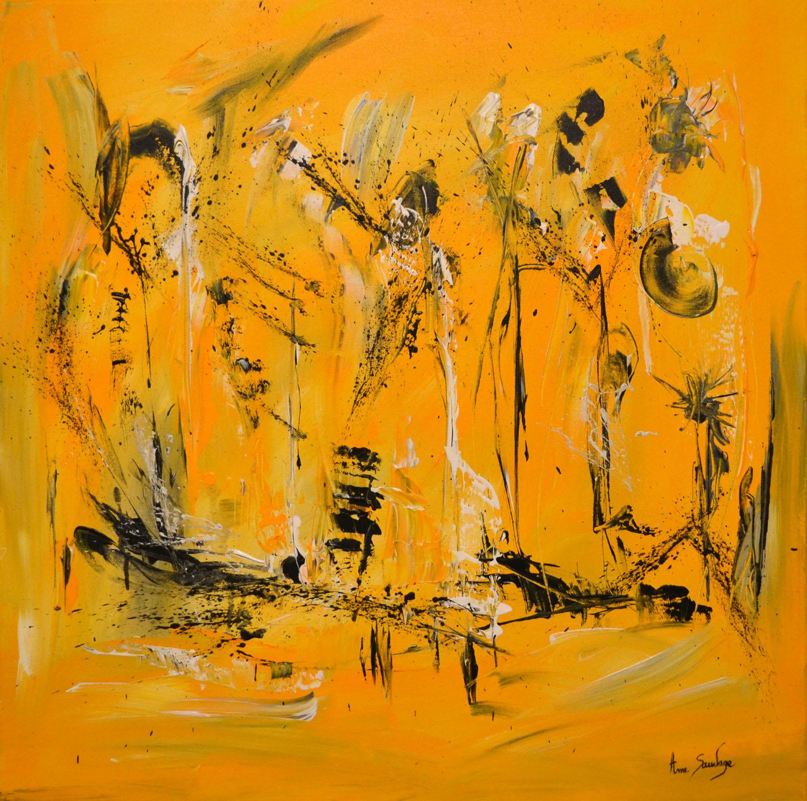 tableau abstrait jaune artiste peintre contemporaine la rochelle. Black Bedroom Furniture Sets. Home Design Ideas