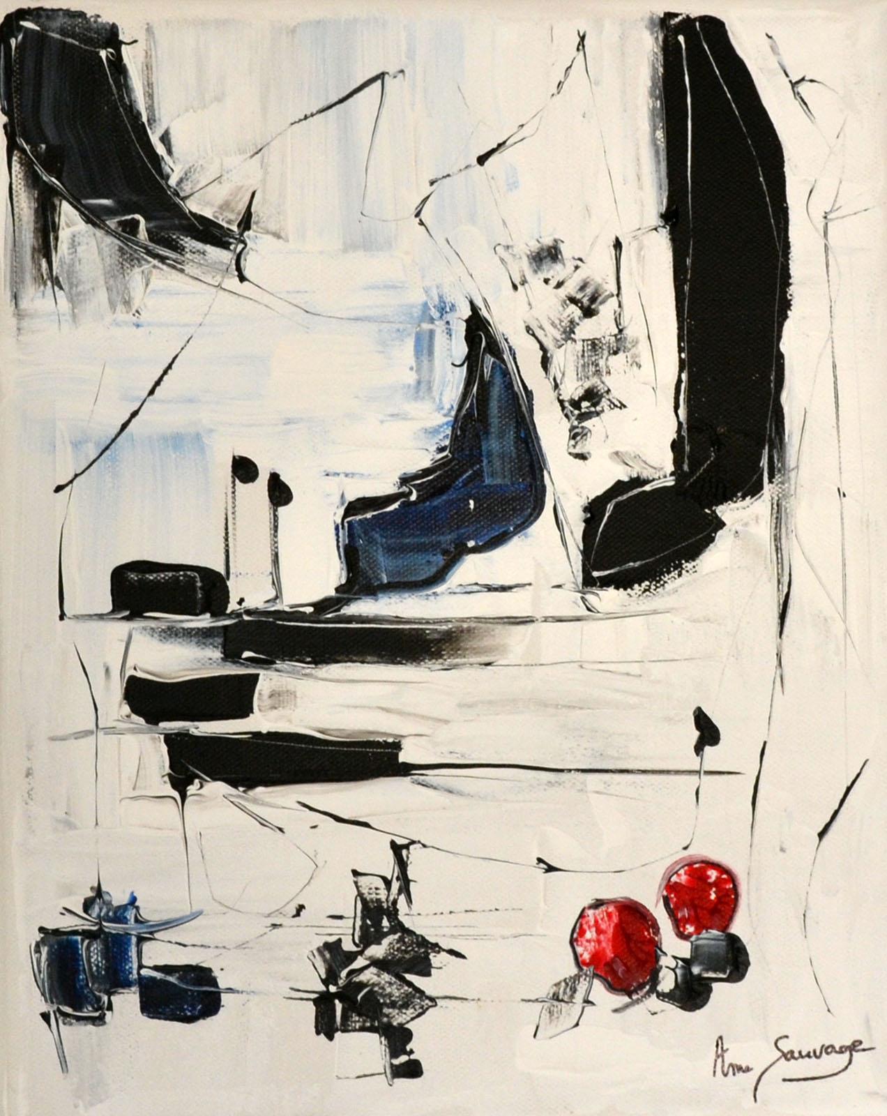 tableau minimaliste noir et blanc