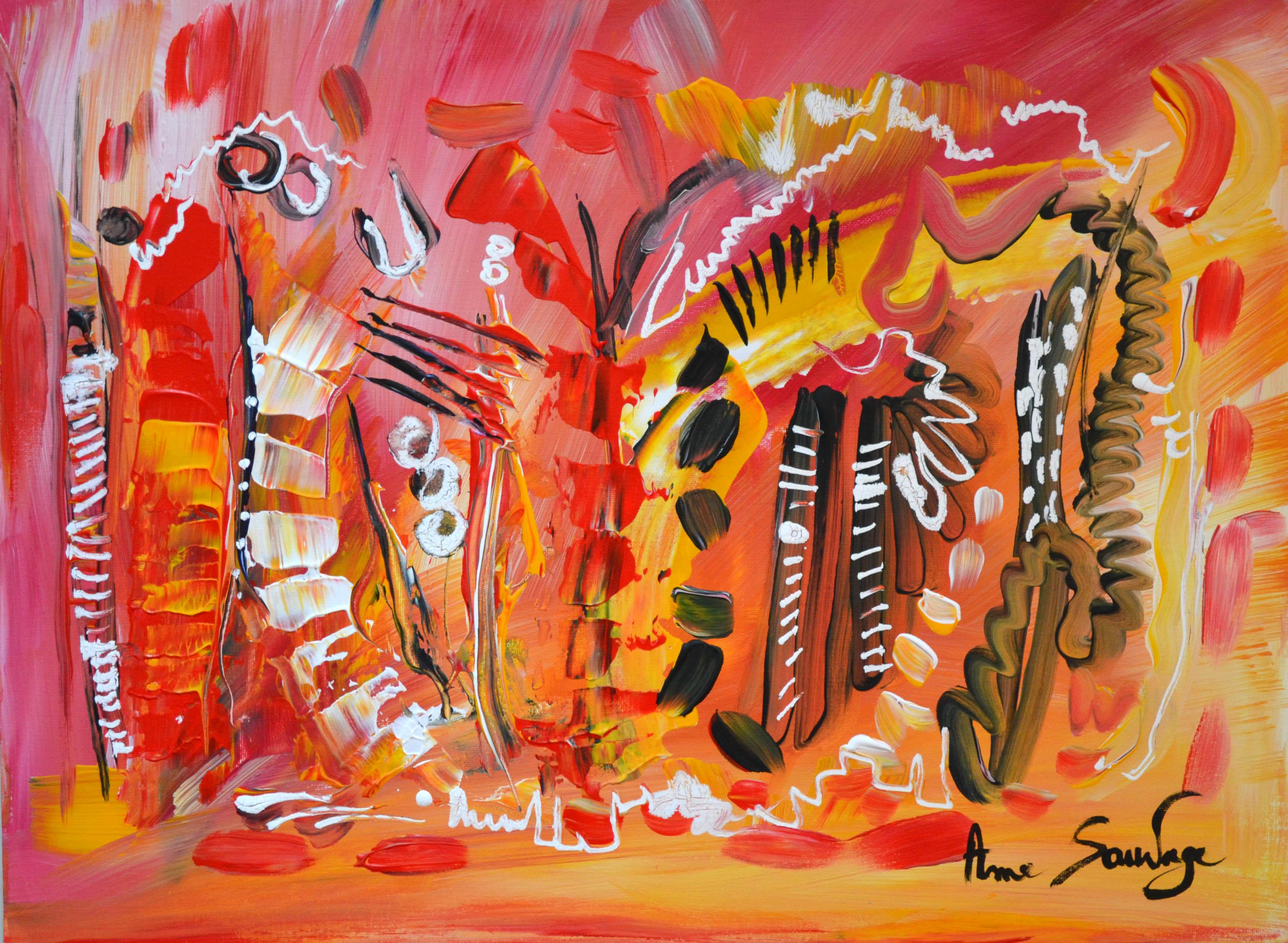 Tableau abstrait contemporain moderne unique artiste peintre - Peinture tableau blanc ...